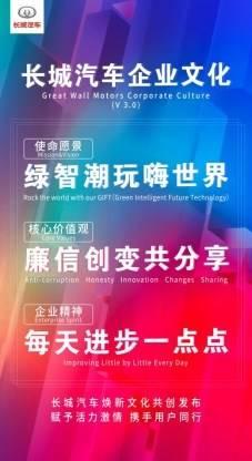 /Users/lujun/Desktop/长城汽车/项目/2011企业文化/新闻稿/【新闻通稿配图】绿智潮玩嗨世界 长城汽车焕新文化共创发布/长城汽车全新企业文化.jpg长城汽车全新企业文化